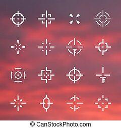 集合, 視域, 不同, 十字准線