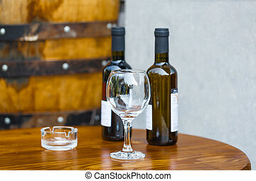 集合, 酒吧, 餐館, 品嘗, 向上, 裝飾, 瓶子, 托盤, 酒