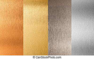 集合, 金, 金屬, nonferrous, 銀, 青銅
