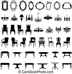 集合, 黑色半面畫像, 家具