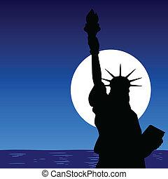 雕像, 關閉, illustra, 向上, 自由