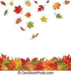 離開, 落下, 秋天