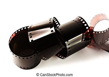 電影, 白色, 被隔离, 背景, 剝去