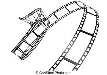 電影, 白色, 被隔离, 背景