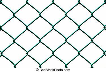 電線柵欄, 被隔离, 背景, 綠色白色, 水平