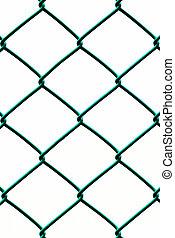 電線, 垂直, 柵欄, 圖案, 被隔离, 背景, 綠色白色