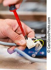 電纜, 方便, 工作, 人
