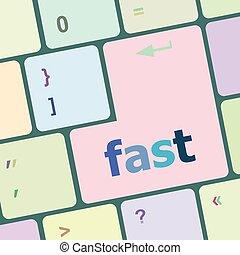 電腦, 按鈕, 插圖, 矢量, 快, 鑰匙, 鍵盤