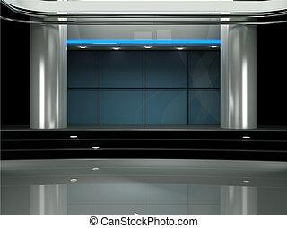 電視機, 工作室, 實際上, 3d