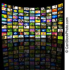 電視, 大, 面板