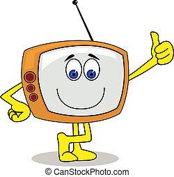 電視, 字, 卡通