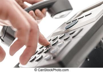 電話, 人物面部影像逼真, 撥, 數字