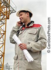 電話, 建造者, 建築工地