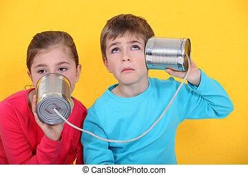 電話, 罐頭能, 孩子
