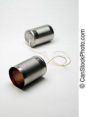 電話, 罐頭能