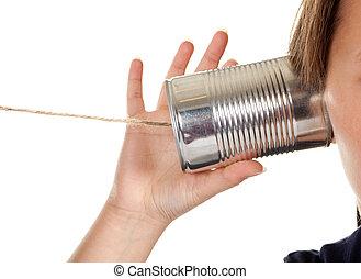 電話, 罐頭