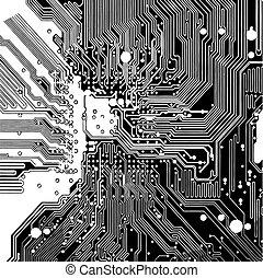 電路, 電腦板, (vector)