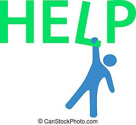 需要, 資訊, 懸挂, 幫助, 人