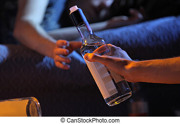青少年, 癮, 概念, 酒精