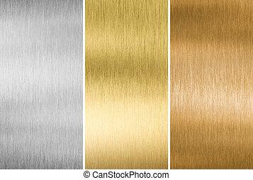 青銅, 金, 金屬, 銀, 質地