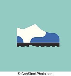 鞋子, 矢量, 潛行, 設計, 套間, 圖象