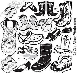 鞋類, 彙整