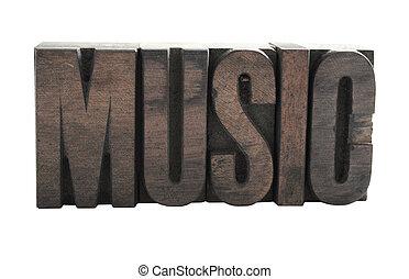 音樂, 木頭, 類型