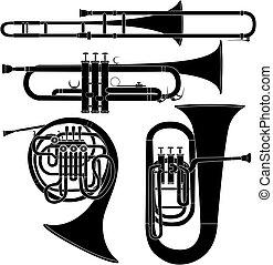 音樂, 矢量, 銅管樂器