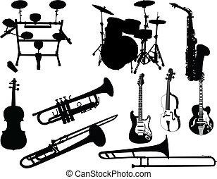 音樂, 集合, 儀器