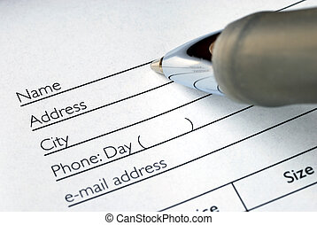 預訂, 充滿, 命名, 形式, 地址