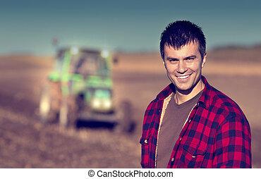 領域, 拖拉机, 農夫