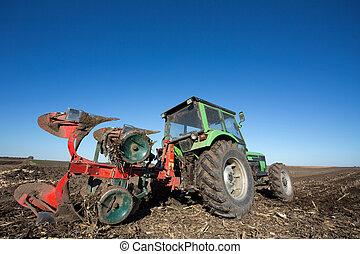領域, 犁, 拖拉机, 設備