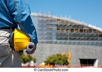 領班, 建設工人, 站點, 或者