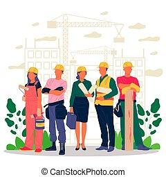 領班, 建造者, 建築師, 工程師