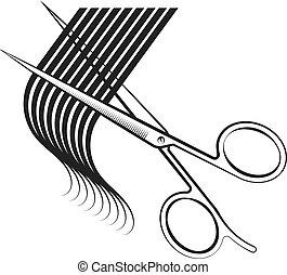 頭髮, 剪刀, 卷發, 傷口
