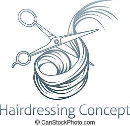 頭髮, 剪刀, 美容師, 切