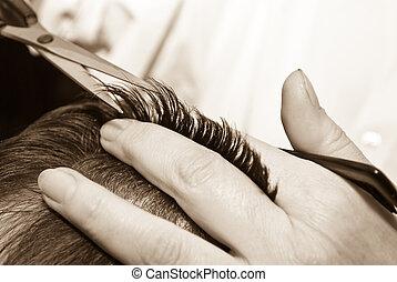 頭髮, 特寫鏡頭, 切