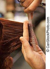 頭髮, 美容師, 切