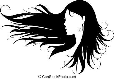 頭髮, 黑色