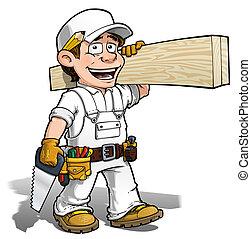 顏色, 做零活的人, -, 它, 木匠, 你自己
