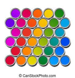 顏色, 塗料罐頭, 光譜