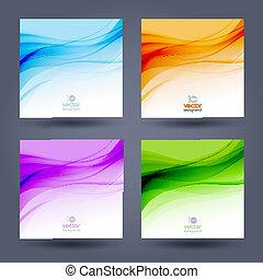 顏色, 摘要, 背景。, 設計, 樣板, 小冊子