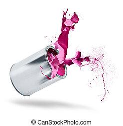 顏色, 畫飛濺聲, 罐頭, 落下