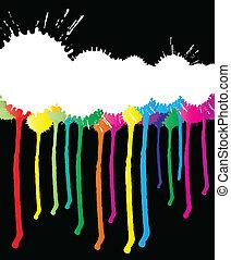 顏色, 畫, 矢量, 飛濺, 背景