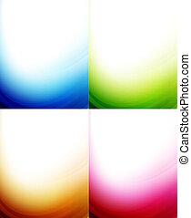 顏色, 背景, 波浪