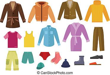 顏色, 衣服, 彙整, 人