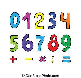顏色, 集合, 數字
