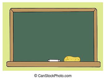 類別, 綠色, 空白, 房間, 黑板