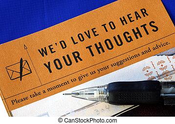 顧客, 藍色, 反饋, 充滿, 被隔离, 調查