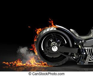 風俗, 摩托車, burnout